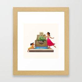 The Broken Fountain Framed Art Print