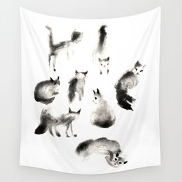 Cats Study Wall Tapestry
