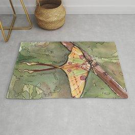 Comet Moth - Watercolor Painting Rug