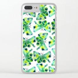 Sea Glass Butterflies Clear iPhone Case