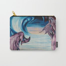 Awaiting the Past- sunset wings take us above the clouds to happy places Carry-All Pouch