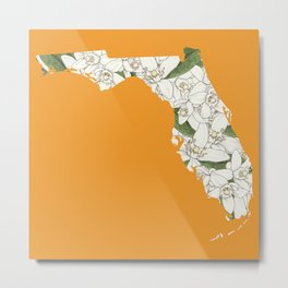 Florida in Flowers Metal Print