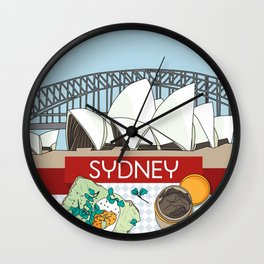 Sydney Skyline Breakfast Wall Clock