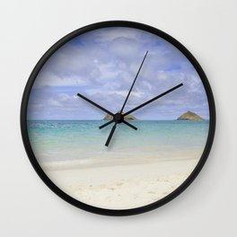 Lanikai Beach Wall Clock