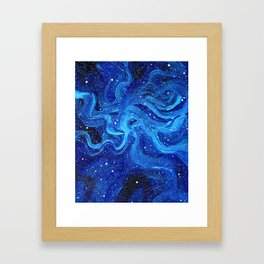 Galaxy Painting Acrylic Galaxy Art Framed Art Print