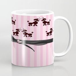 Poodles And Pink Hearts Coffee Mug