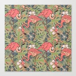 Pink flamingos. Canvas Print