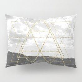 Gold Glitter Sacred Geometry Pillow Sham