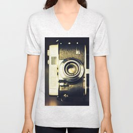 The heart and mind are the true lens of the camera Unisex V-Neck