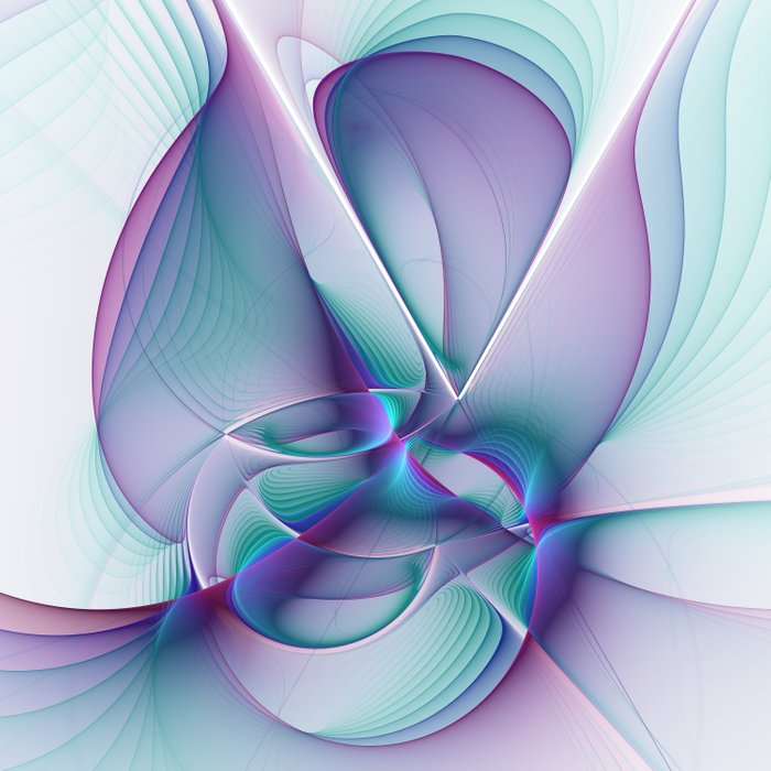 A Colorful Beauty, Abstract Fractal Art Comforters