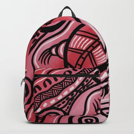 Authentic Aboriginal Art - Lizard Backpack