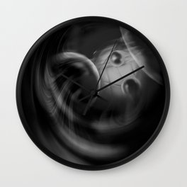 Abstract - Black and White Wall Clock