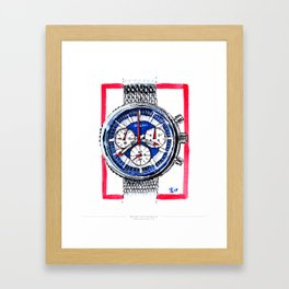Bulova 'Stars and Stripes' Chronograph C Framed Art Print