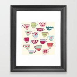 China Teacups Framed Art Print