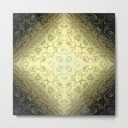 Hepburn in Gold Metal Print