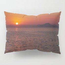 Italian sunset. Coast of Naples Pillow Sham