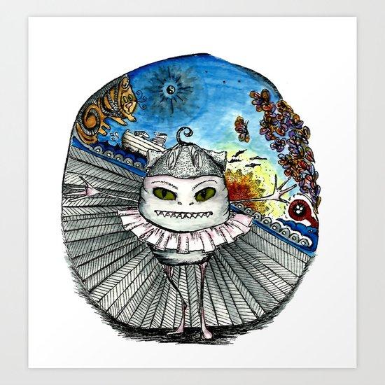 Noahs speedboat Art Print