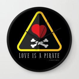 Love is a Pirate (Sometimes) - Pop Culture Wall Clock