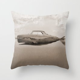 the Buick of the sea Throw Pillow