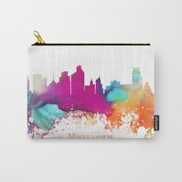 Minneapolis skyline watercolor Carry-All Pouch