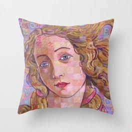 Variations On Botticelli's Venus – No. 4 (Iridescence) Throw Pillow