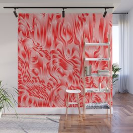Pastel smudges stains of delicate colors with red. Wall Mural