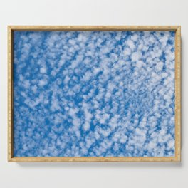cloudy sky Serving Tray