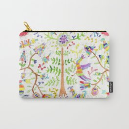 Otomi textile watercolor Carry-All Pouch
