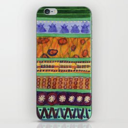 Bordered Catchy Creative Stripes iPhone Skin