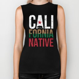 CA California Native Gift for Home State Pride Residents from Los Angeles, San Diego, San Jose Biker Tank