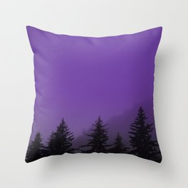 Ultra Violet Fog - Seward Alaska Throw Pillow