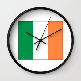 Irish flag -ireland,eire,airlann,irish,gaelic,eriu,celtic,dublin,belfast,joyce,beckett Wall Clock