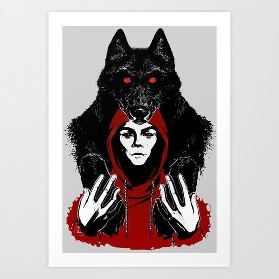 red ridin' hood Art Print