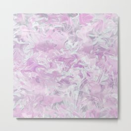 Pink Watercolour Metal Print