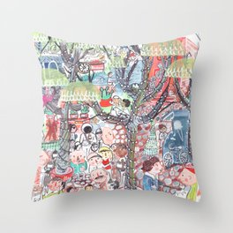 To Market To Market Throw Pillow
