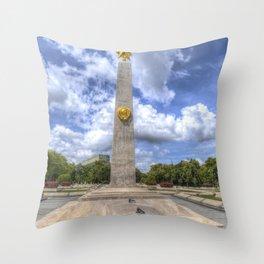 Russian World War 2 Memorial Budapest Throw Pillow