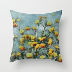 Summers Yellow Throw Pillow
