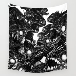 The Riot : Piranhas Wall Tapestry