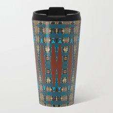 South Western Color Palette Mosaic Pattern Metal Travel Mug