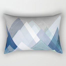 Graphic 107 X Blue Rectangular Pillow