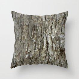 Tree Bark Texture Throw Pillow
