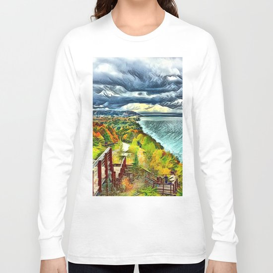 Stairs to Paradise (Water and Landscape) Long Sleeve T-shirt