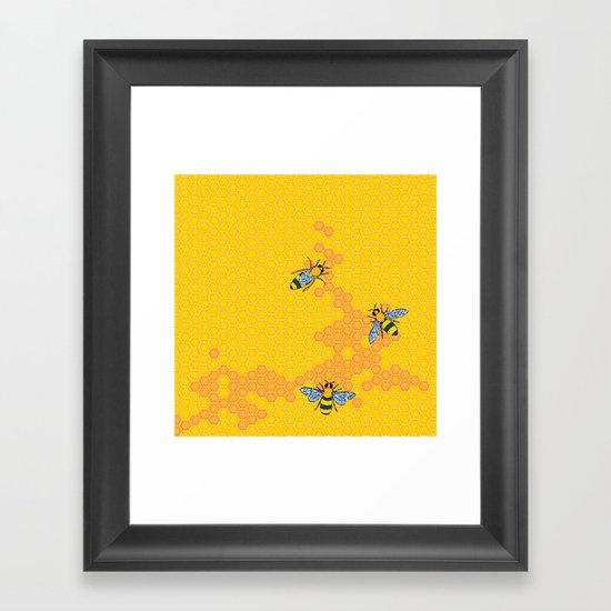 HoneyBees 1 Framed Art Print