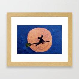 Broom Rider Framed Art Print