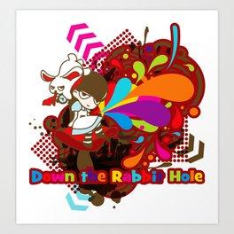 Down the Rabbit-Hole Art Print