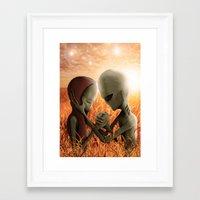 aliens Framed Art Prints featuring Aliens by danielabbart