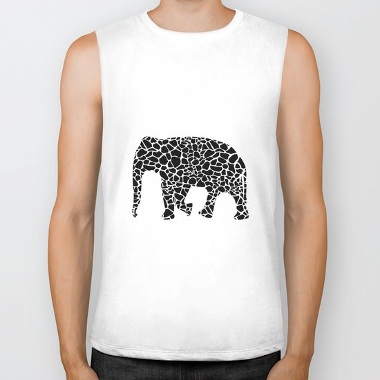 Elephant with giraffe print Biker Tank