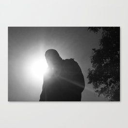 In the shadow of Churchill Canvas Print