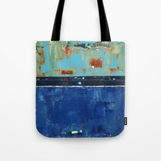 Dress Blues Blue Abstract Landscape Modern Tote Bag
