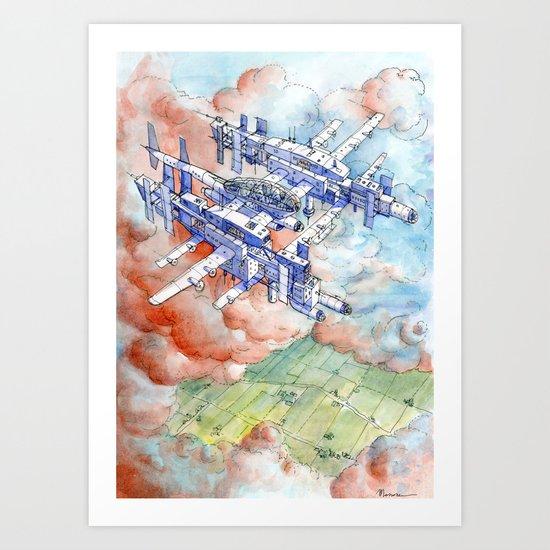 La citta' aerea Art Print